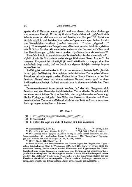 Ein Bruchstück einer alttürkischen Buddhabiographie - FreiDok