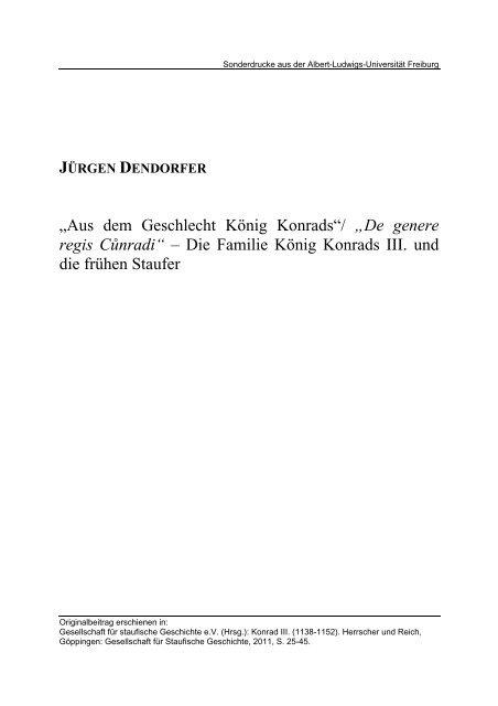 """De genere regis ""Cůnradi"" - Die Familie König Konrads III ... - FreiDok"