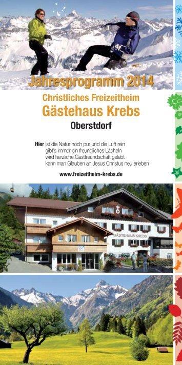 Gästehaus Krebs Jahresprogramm 2014 - im Christlichen ...