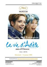 Kinostart : 9. Januar 2014 - Frenetic Films