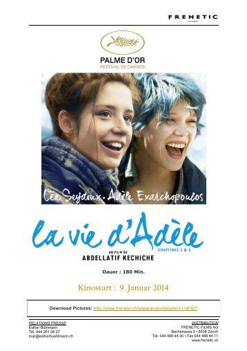 Kinostart : 9. Januar 2014 - Frenetic Films