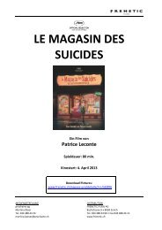 LE MAGASIN DES SUICIDES - Frenetic Films