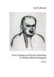 Vom Ursprung und Sinn der Seinsfrage im Denken Martin ... - FreiDok
