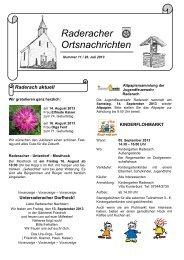 Raderacher Ortsnachrichten - Friedrichshafen
