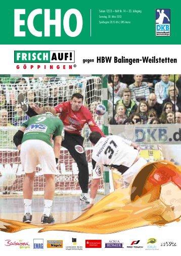 HBW Balingen-Weilstetten - FRISCH AUF! Göppingen