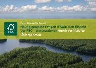 Häufig gestellte Fragen (FAQs) zum Einsatz der ... - FSC-Deutschland