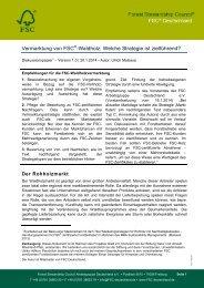 Vermarktungsstrategien für FSC-Waldholz ... - FSC-Deutschland