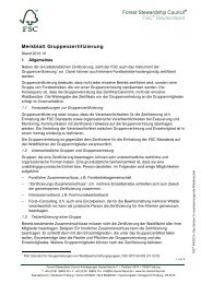 Merkblatt Gruppenzertifizierung PDF, Size: 58 ... - FSC-Deutschland