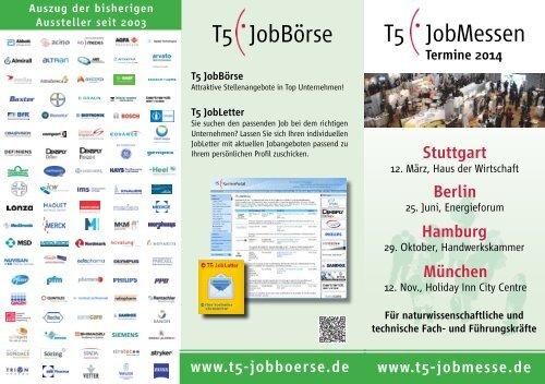 T5 JobMessen T5 JobBörse