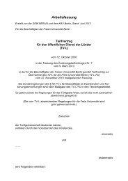 Tarifvertrag TV-L FU - Freie Universität Berlin