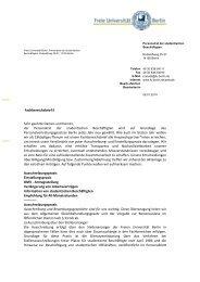 Fachbereichsbrief Januar 2014 - Freie Universität Berlin