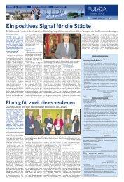 Stadtseiten - 49. Kalenderwoche - 03. Dezember 2013 - in Fulda