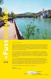 Bulletin 2_2013 - Fussverkehr Schweiz