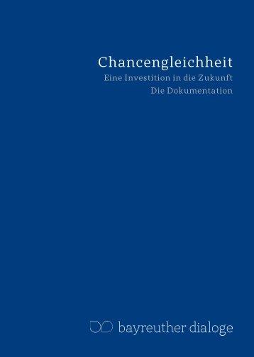 finden Sie die Dokumentation des Jahres 2010 - Bayreuther Dialoge