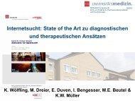 Internetsucht: State of the Art zu diagnostischen Kriterien und ...