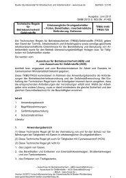 TRBS 3145 / TRGS 725 Ortsbewegliche ... - Gewerbeaufsicht