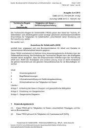 TRGS 407 Tätigkeiten mit Gasen - Gewerbeaufsicht - Baden ...