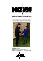 NOVA Februar 2014 - Astronomische Gesellschaft Luzern
