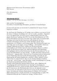 Quartierverein Unterseewen+Seewenstrasse (QUS) - Gasthaus Kreuz