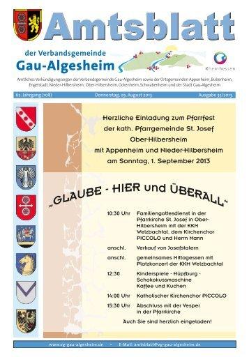 weiterlesen - Verbandsgemeinde Gau-Algesheim