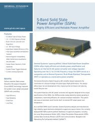 S-Band Solid State Power Amplifier (SSPA) - General Dynamics ...
