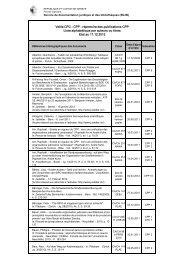 Veille CPP liste alphabétique - Etat de Genève