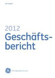 GE Geschaeftsbericht 2012 - GE Capital Deutschland