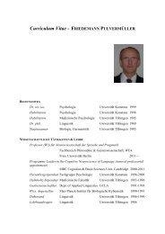 CV von Friedemann Pulvermüller - Fachbereich Philosophie und ...