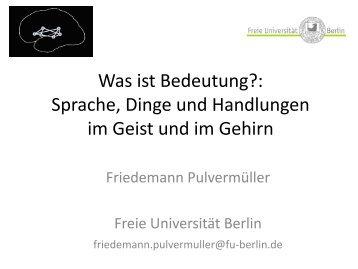 Folien - Fachbereich Philosophie und Geisteswissenschaften - Freie ...
