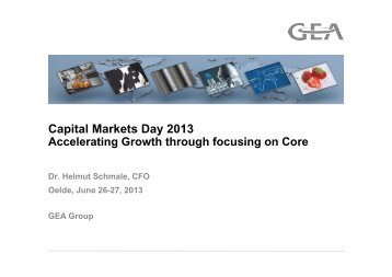 Capital Markets Day 2013 - GEA Group