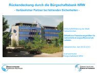 Rückendeckung durch die Bürgschaftsbank NRW - Stadt ...