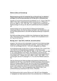 Bekanntmachung Einreichung Wahlvorschläge PDF 166,6 kB