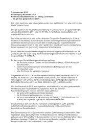 5. September 2013 Einbringung Haushalt 2014 Rede von ...