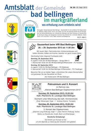 Patrozinium und 3. Konzert Sauserfest beim VfR Bad Bellingen