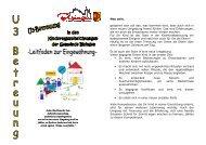 Leitfaden zur Eingewöhnung U3-Betreuung - Gemeinde Bisingen
