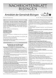 45 Umbruch_Leerumbr.qxd - Gemeinde Bisingen