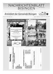 Amtsblatt der Gemeinde Bisingen