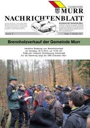 Nachrichtenblatt Nr. 50 vom 13. Dezember 2013 - Gemeinde Murr