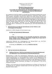 Bekanntmachung zur Wahl des Gemeinderates und Vertretungen ...