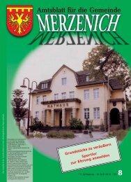 Nr. 08/2013, erschienen am 19.07.2013 - Gemeinde Merzenich