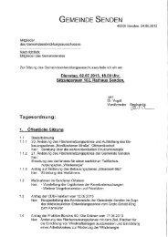 Einladung (öffentlicher Teil) - Gemeinde Senden