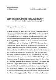 Gemeinde Senden Der Bürgermeister 48308 Senden, 23. Jan. 2014 ...