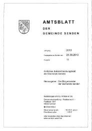 AMTSBLATT - Gemeinde Senden