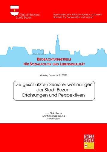 Die geschützten Seniorenwohnungen der Stadt Bozen