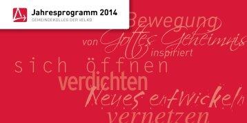 Jahresprogramm 2014 - Gemeindekolleg der VELKD