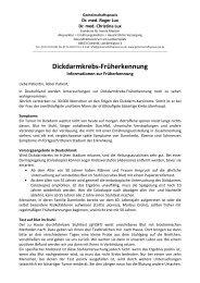 Dickdarmkrebs-Früherkennung - Gemeinschaftspraxis Dr. med ...
