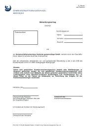 Behandlungsvertrag 2014 - Gemeinschaftskrankenhaus Herdecke