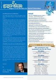 Jubilare — 4. Quartal 2013 - GePe Peterhoff