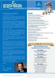 Jubilare — 3. Quartal 2013 - GePe Peterhoff