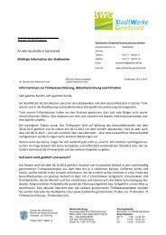 Infoschreiben Kunden wegen Chlorung-Abkochen ... - Geretsried